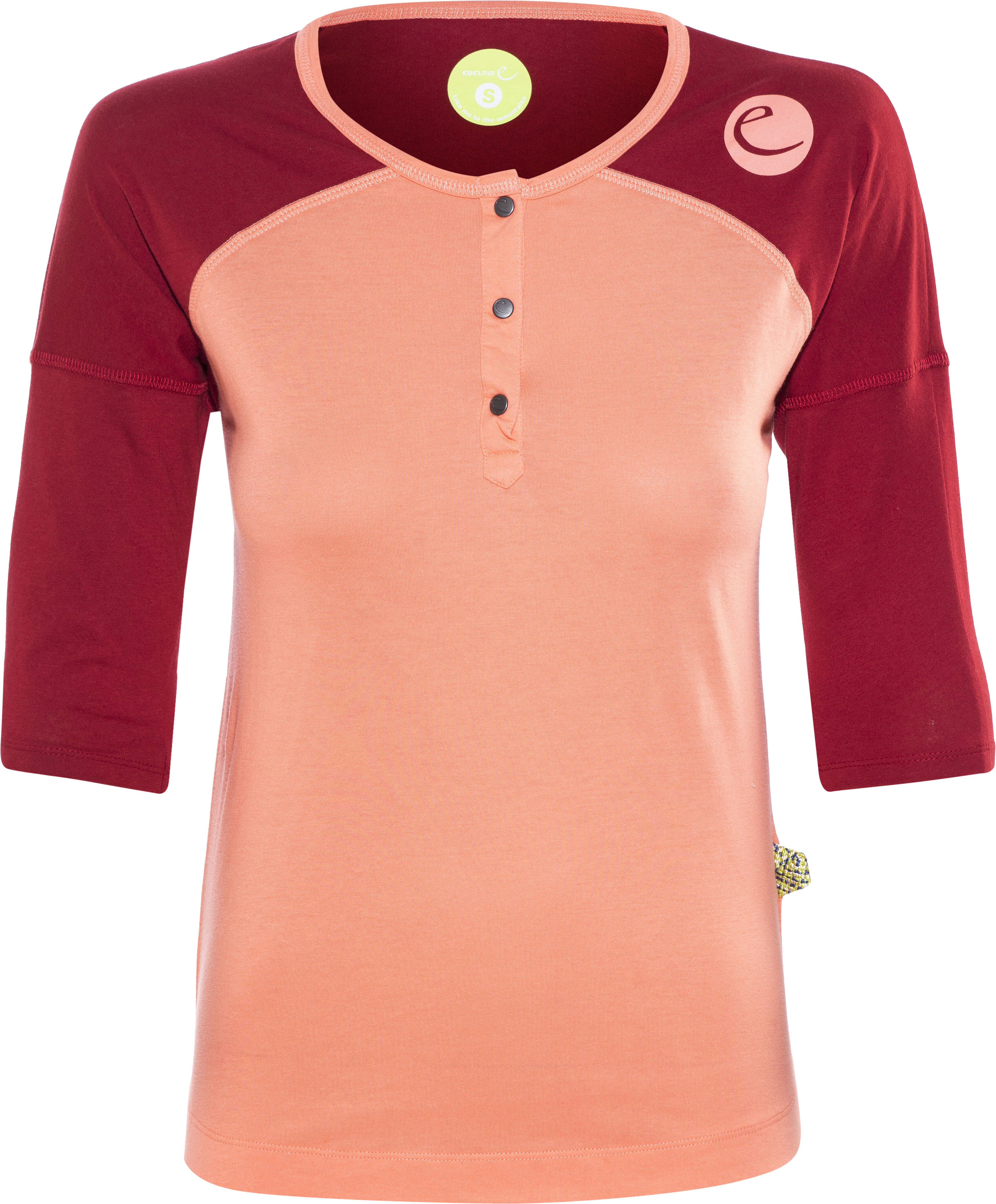 b7e08ac6eee Edelrid Highball - T-shirt manches longues Femme - orange rouge sur ...
